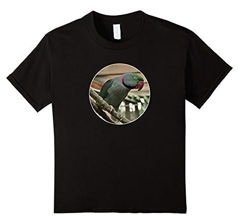 Kids Alexander Parakeet Shirt Great for Bird Lovers Aviary 10 Black (Alexander Delay)