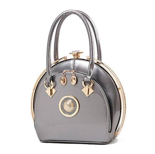 Clip Leather Tote ZJ Party Bag Women Diamonds grey Clutch New Evening amp;OS Office qngW4AFg