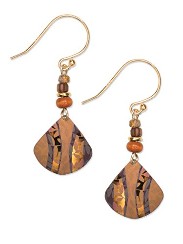 Amber Wave Beaded Earrings for Women, Chandelier-Style Painterly Earrings with Hypoallergenic Niobium, Women's Jewelry for Weddings, Valentine's Day Gifts, Mother's Day, and More - Holly Yashi