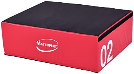 MAT EXPERT - Caja de salto segura para hacer ejercicios pliométricos, de espuma suave y PVC, 12