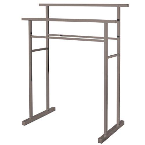 (Kingston Brass SCC8248 Pedestal Steel Construction Towel Rack, Brushed Nickel )