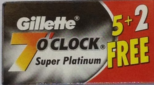 84 7 O'clock Super Platinum Double Edge Safety Razor Blades - AKA 7'Oclock Black