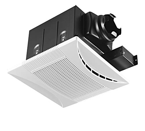 Bathroom Super Quiet Exhaust Fan - Tech Drive Super-Quiet 70 CFM, 0.3 Sone Bathroom Ventilation and Exhaust Fan (70CFM)