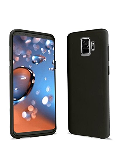 Samsung Galaxy S9 case- Premium matte finish back - light weight - slim fit TPU with excellent grip for s9 - new shock absorption protective android s9 case cover - black