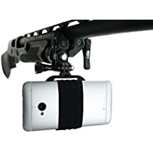 Action Mount - GoPro Style Sportsman's Mount for Any Smartphone: Clamp Attaches to Sports Fishing Rod, Bow, Shotgun, Rifle, Paintball and More. Operable with Any Phone. Strong Hold.