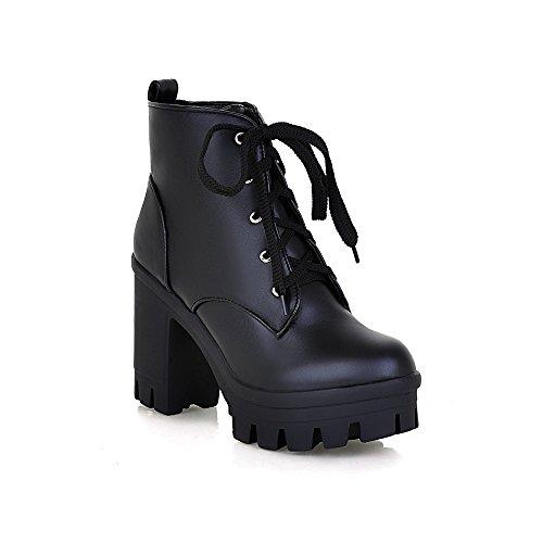 Style New Boots high High Waterproof Tie C Booties Women's Platform Boots Heel Heel UwqtBEt