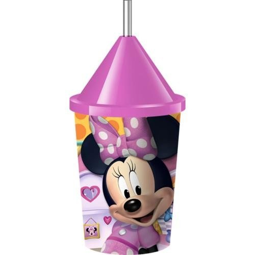 Souvenir Straw - Disney Minnie Mouse Dream Party Lids and Straws for Souvenir Cups