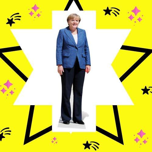 Angela Merkel 164/cm Carton Grandeur Nature