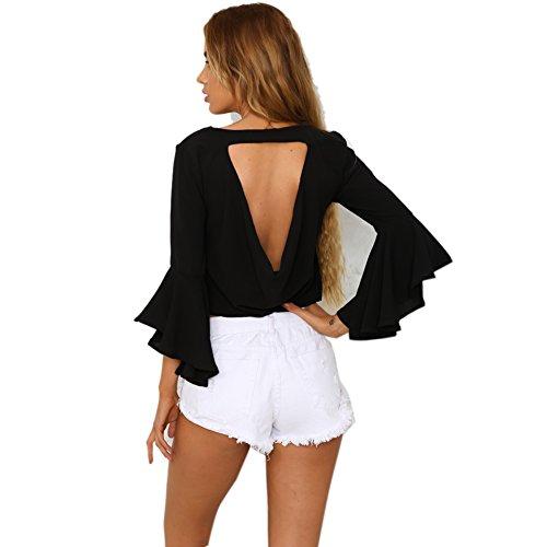 La Cabina Femme Sexy Mini Robe T-Shirt + Asymétrique Irrégulière Manches Longue pour Soirée Cocktail Vie Quotidienne