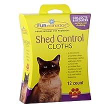 FURminator Cat Shed Control Cloths-12 Count