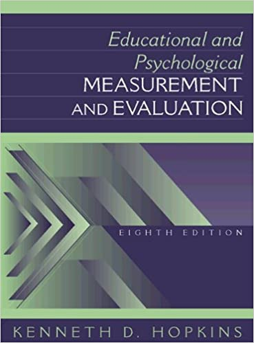 Educational And Psychological Measurement And Evaluation (8Th