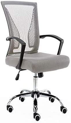Modern Home Zuna Mid – Back Office Chair, Black Gray