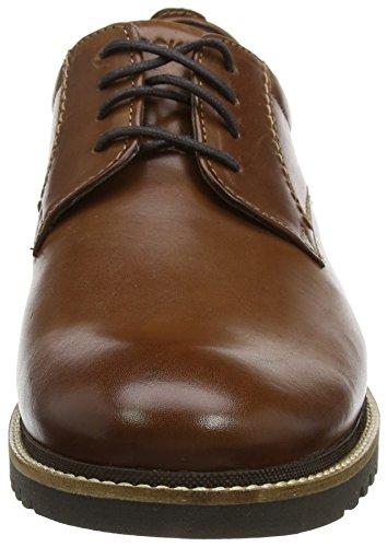 Oxford Rockport Plaintoe Braun Schnürhalbschuhe Herren Leather Dark Brown Marshall Braun qapxrtaw