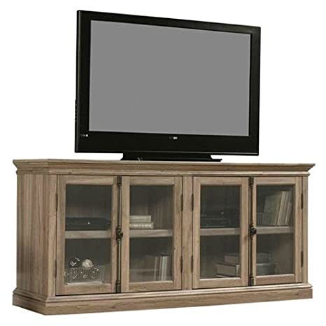 Amazon Com Svitlife Salt Oak Wood Finish Tv Stand With Tempered