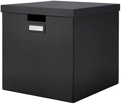 Ikea Tjena Box With Lid Black 32x35x32 Cm Amazon Co Uk Kitchen Home