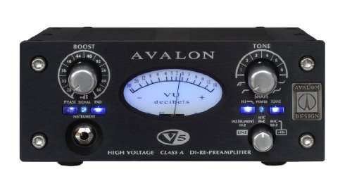 Avalon Design V5 B | Pure Class A DI-RE-Microphone Preamplifier 10 Tone-Bank EQ Black