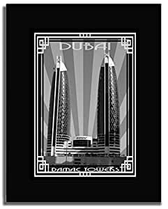 Photo of Damac Tower-Black And White With Silver Border F04-M (A5)