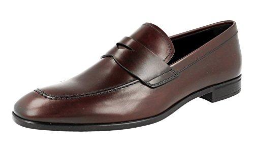 Prada Mens 2dc172 Dt7 F0397 Chaussures Daffaires En Cuir