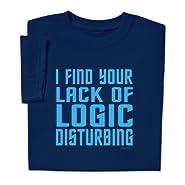 ComputerGear Funny Spock T Shirt Star Trek Lack of Logic Disturbing Tee