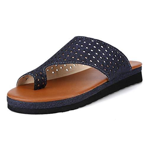 Watere◕‿◕ Women's Slippers,Sequins Retro Roman Slippers Beach Shoes Comfy Platform Sandal Shoes Summer Travel Shoes Sky Blue