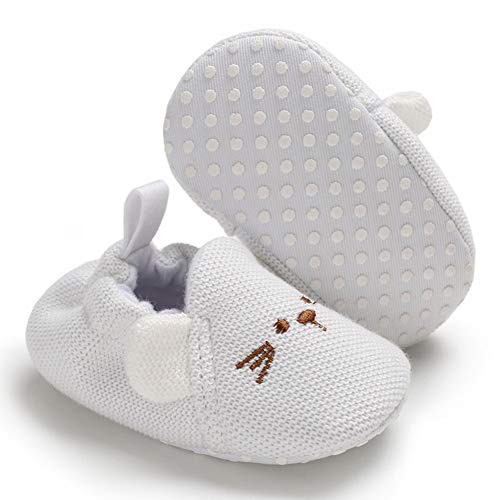 New Infant Baby Crib Shoes - Sawimlgy Infant Baby Boys Girls Cute Slippers Cozy Booties Moccasins Gift Shoes