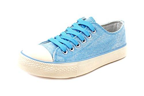 Luckers Damesmode Sneakers Fris Blauw