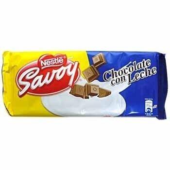 Chocolate de Leche Savoy Venezuela 130 gr (5 Pack/130 gr) by Savoy