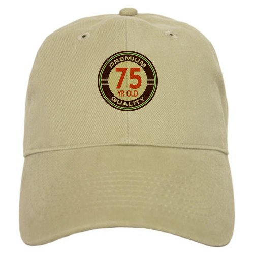 Great Birthday Present (CafePress - 75th Birthday Vintage Cap - Baseball Cap with Adjustable Closure, Unique Printed Baseball)