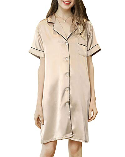 Maniche B Donna delle Stile Pigiama Tutte Sleepwear Notte donne per DaiHan Camicia Pigiama corta Stagioni a Biancheria da le lungo qtUxWndx