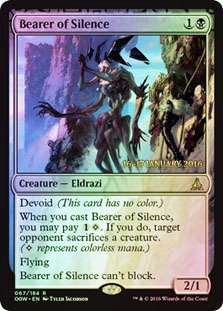 Magic: the Gathering - Bearer of Silence (067/184) - Prerelease & Release Promos - Foil