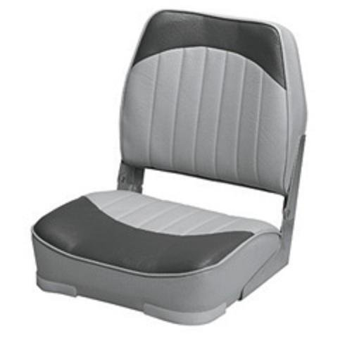 Wise 8WD734PLS-664 Economy Low Back Seat, Grey/Charcoal