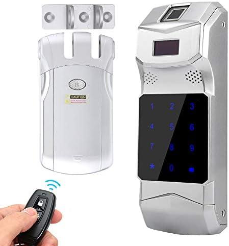 指紋電気スマートドアロック、WAFU-HF-018屋外ワイヤレス指紋パスワードリモートコントロールTouchsreenロック
