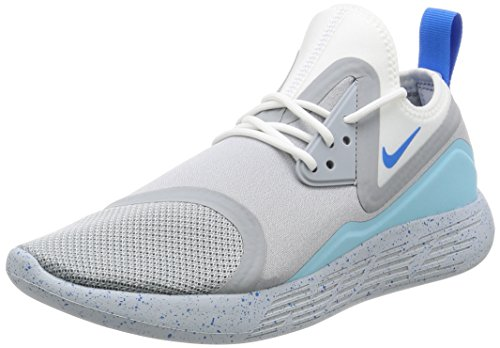 Nike Men's Lunarcharge Bn Ankle-High Running Shoe Photo Blue-white Grey
