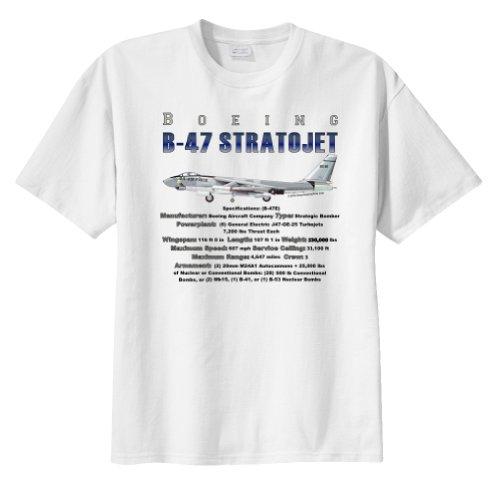 Stratojet Bomber (Boeing B-47 Stratojet Bomber WarbirdShirts™ Men's Short Sleeve T-Shirt White XL)