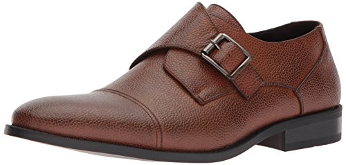 Unlisted by Kenneth Cole Men's Unlisted Design 30134 Monk-Strap Loafer, Brandy, 10.5 M US (Strap Brandy)