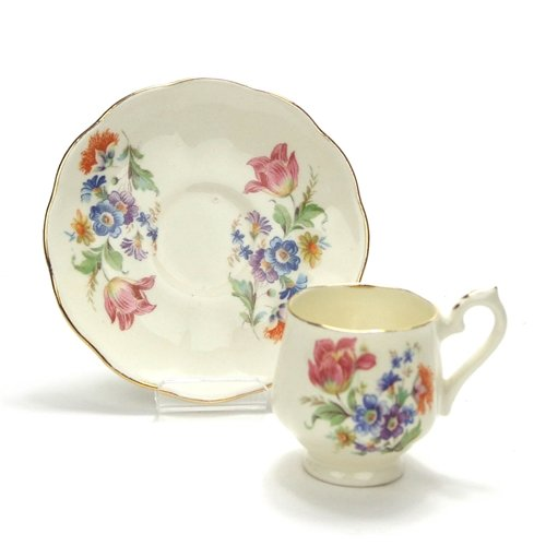 (Demitasse Cup & Saucer by Hart, China, Floral Bouquet)