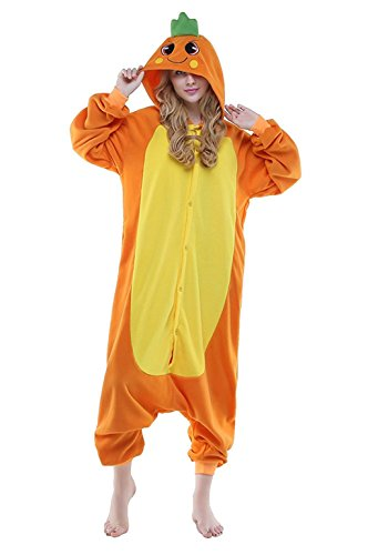 [Carrot Unisex Pajamas Adult Onesies Costume Small] (Tigger Carrot Costume)