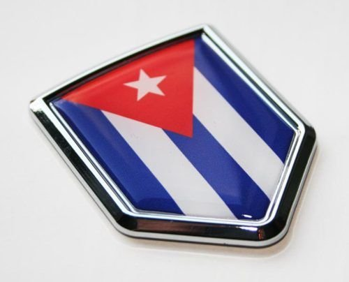 cuban flag car decal - 1