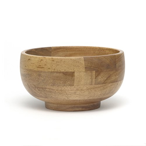 Lipper International 323 Oak Finished Footed Rice Serving Bowl, Small, 6
