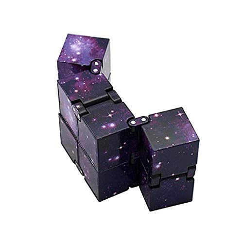 PATPAT® Infinity Cube Toy for Adults and Kids, Finger Toy Stress and Anxiety Relief, Killing Time Unique Idea Cool Mini Gadget Starry Sky Colorful