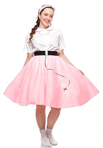 Cute Poodle Skirts (Poodle Skirt - Teen to Adult Small Size - Pink)