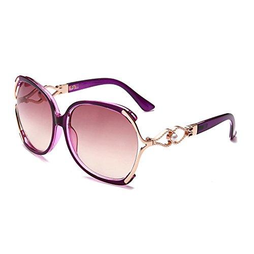 Butterfly lujo Señoras mujer sobredimensionado TL Leopard C3 de Sunglasses Vintage C4 gafas Azul Purple sol fqwtp