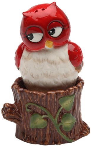 Cosmos Gifts 10908 Owl on Tree Salt and Pepper Set, 3-Inch