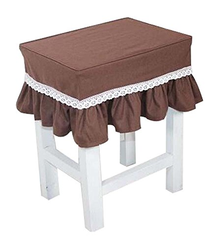 Black Temptation Cotton Canvas Stool Cover Makeup Stool Cover Coffee by Black Temptation