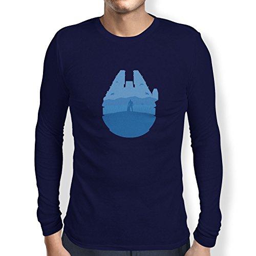 TEXLAB - Falcon View - Herren Langarm T-Shirt, Größe M, navy