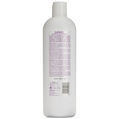 Amazon.com: Babaria Onion Shampoo (Anti-Oxidant/Stimulating Effect) 20 oz: Beauty