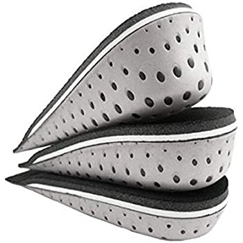 1.5cm // 0.59inch Unisex Height Increase Insole Invisible Heel Lift Taller Lift 4.5cm Shoe Inserts Height Increase Cushion Insoles Pad for Men Women