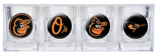 MLB Baltimore Orioles Four Piece Square Shot Glass Set (Individual ()