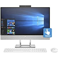 HP Pavilion 24 All-in-One 23.8 Multi-Touch Full HD Desktop - 7th Gen Intel Core i7-7700T Quad-Core Processor up to 3.80 GHz, 32GB DDR4 RAM, 1TB SSD, Intel HD Graphics, Windows 10 Pro