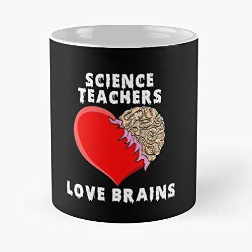 School Halloween Science Teacher Teachers Love Brains - Gift Coffee Mug 11 Oz Funny -